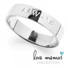 Love Memos Collection: 'ALWAYS' Silver Band