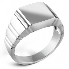 QUILLION Silver Signet Ring