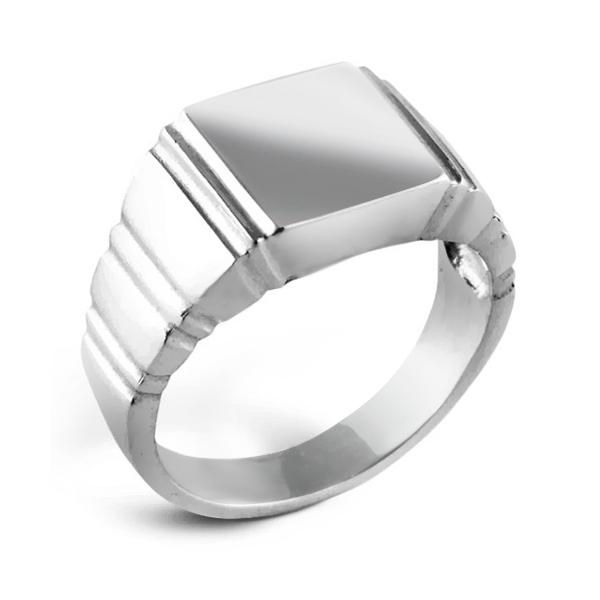 Sterling Silver Mens Signet Ring
