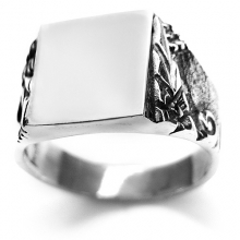 HILT Silver Signet Ring