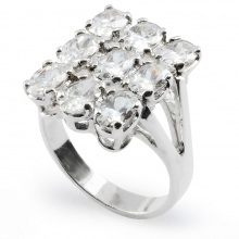 WHITE LILY Nickel-Free Silver Statement Ring