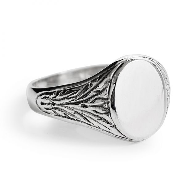sterling silver s signet ring harry fay jewellery