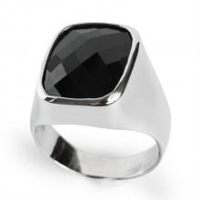 ILTA Silver Signet Cushion Ring