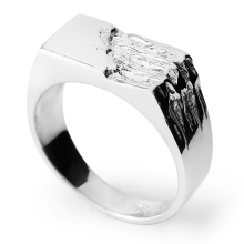 BRUTE Silver Signet Ring