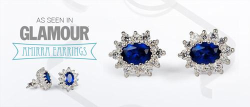 As seen in Glamour - Amirra silver earrings