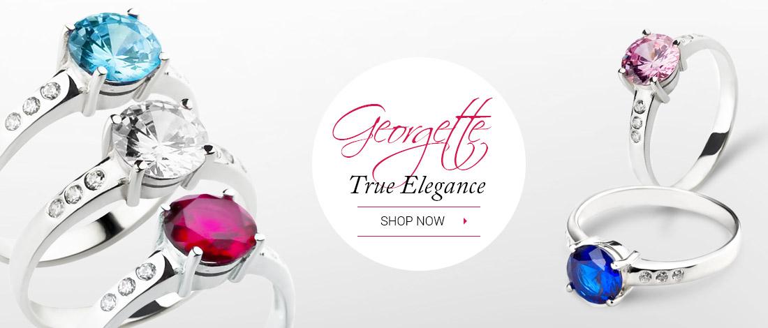 Beautiful Georgette silver rings