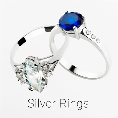 Pick a perfect ring from our collection of Silver Rings