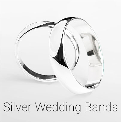Silver Wedding Bands - all sizes from G up to Z+4