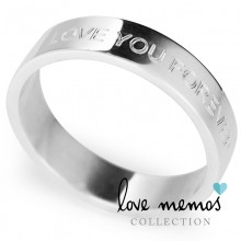 Love Memos Collection: 'I WILL LOVE YOU FOREVER' Silver Band
