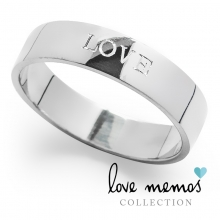 Love Memos Collection: 'LOVE' Silver Band