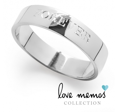 Love Memos Collection: 'FOREVER' Silver Band