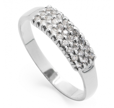 LUMI Silver Pave Band Ring