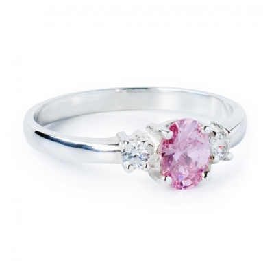 PINK CLEO Silver Ring