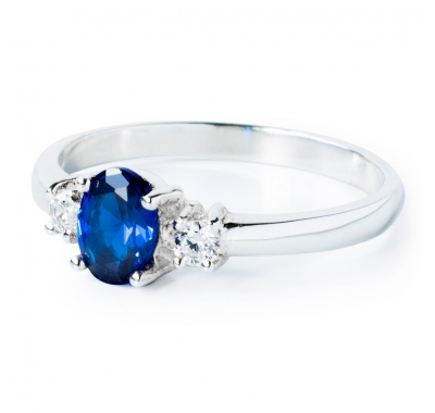 BLUE CLEO Silver Ring