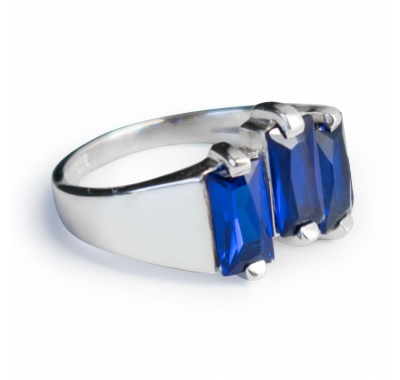 BLUE HAZEL Silver Ring