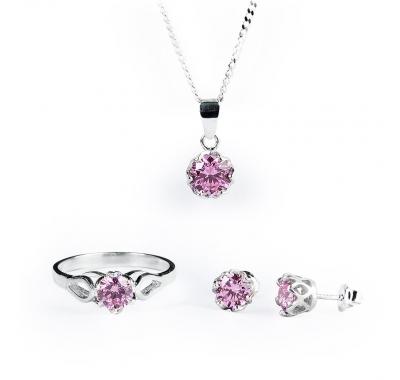 Pink Esme Silver Set