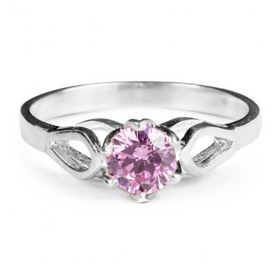 PINK ESME Silver Ring
