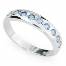 AQUAMARINE SACHA Sterling Silver Ring with with Aquamarine stones