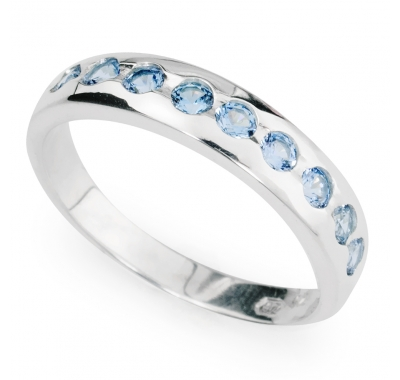 AQUAMARINE SACHA Silver Ring