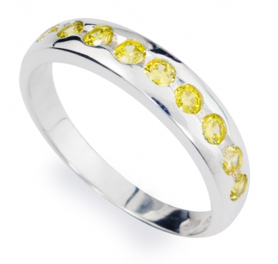 YELLOW SACHA Silver Ring