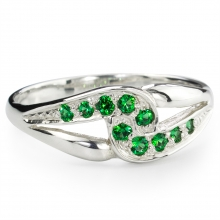 GREEN SARITA Silver Ring