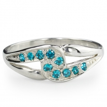 TEAL SARITA Silver Ring
