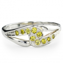 YELLOW SARITA Silver Ring