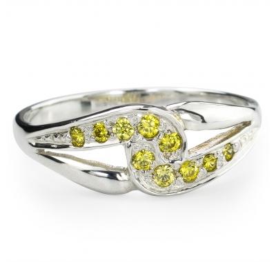 YELLOW SARITA Silver Ring