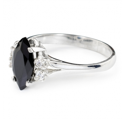 BLACK CALIENTE Silver Ring