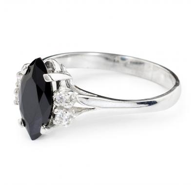 BLACK CALIENTE Silver Ring