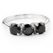 BLACK ALPIN Silver Ring