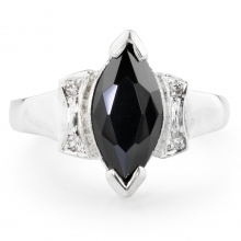 BLACK MARTITA Silver Ring