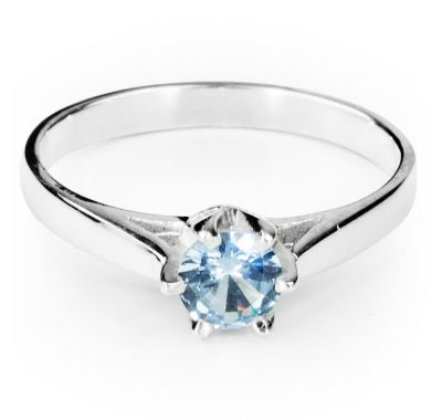 AQUAMARINE TIAMO Solitaire Ring