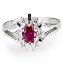 GRACE Ruby Silver Ring
