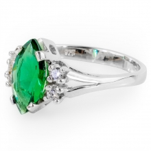 GREEN CALIENTE Silver Ring