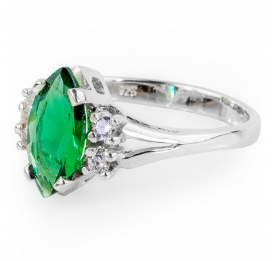 GREEN CALIENTE Silver Ring