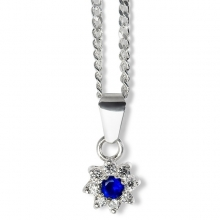 BLUE ZINNIA Silver Necklace Pendant