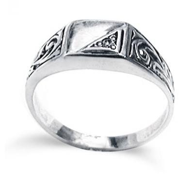 JULIUS Classic Silver Signet Ring