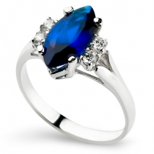 BLUE CALIENTE Silver Ring