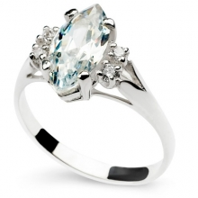 WHITE CALIENTE Silver Ring