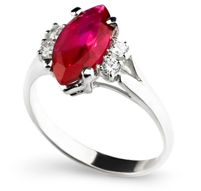 RED CALIENTE Silver Ring
