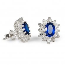 AMIRRA Silver Stud Earrings