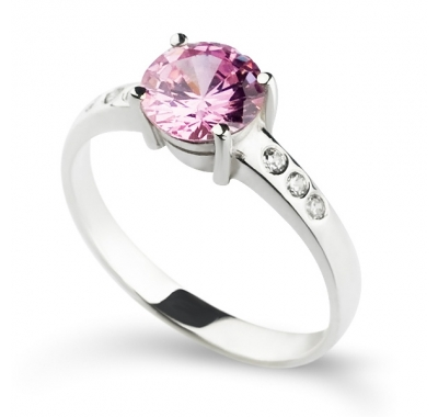 PINK GEORGETTE Silver Ring