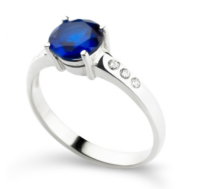 GEORGETTE Sapphire Silver Ring