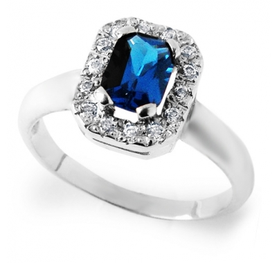 BLUE FREA Silver Ring