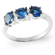 BLUE ALPIN Silver Ring