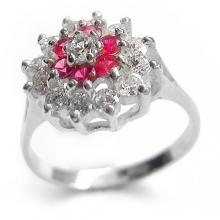 KAZUMI Pink Silver Ring
