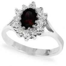 IGNIS Silver Ring with Garnet