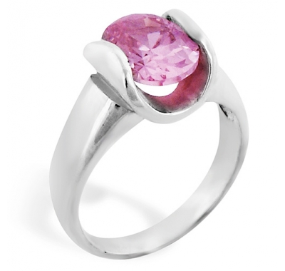 FLAMINGO Pink Silver Ring