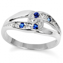 SARITA Silver Nickel-Free Sapphire Ring